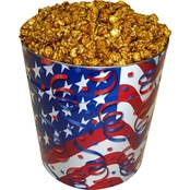 Naper Nuts & Sweets Patriotic 3.5 Gallon Caramel Corn Tin