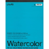 UCreate 9x12 Watercolor Tablet, 12 Sheets