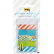 Post-it Geos Pattern Collection, 0.47 in. x 1.7 in. 100 Pk.