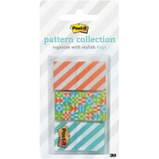 Post-it Simple Geos Pattern Collection, 0.94 in. x 1.7 in. 60 Pk.