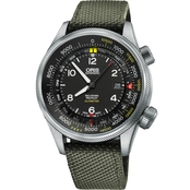 Oris Men's ProPilot Altimeter Watch Set With Green Textile Strap 73377054134TS