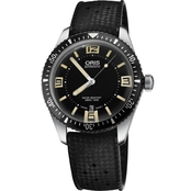 Oris Men's Heritage Divers 65 Watch with Black Rubber Strap 73377074064RS