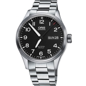 Oris Men's ProPilot Day Date Watch With Black Dial And Metal Bracelet 75276984164MB