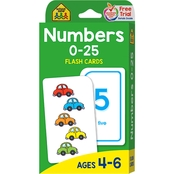 School Zone Number 0-25 Flash Cards