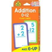 School Zone Addition 0-12 Flash Cards