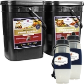 Wise Emergency Food Package, 240 servings, Plus 2 Water Filtration Bottles