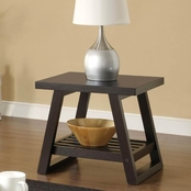 Coaster Occasional End Table with Slatted Shelf