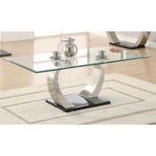 Coaster Satin Coffee Table