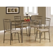 Coaster Dinettes 5 pc. Rectangular Dining Set, Brown