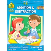 School Zone Addition & Subtraction G1-2 Deluxe Edition Workbook