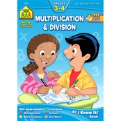 School Zone Multiplication & Division G3-4 Deluxe Edition Workbook
