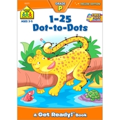 School Zone 1-25 Dots-to-Dots Grade P Deluxe Edition Workbook