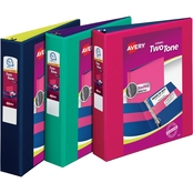 Avery Two Tone DV Binder, 1 to 1.5 in. Slant Rings, 375 Sheet Capacity