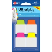 Avery Mini Ultra Tabs Neon Repositionable Two-Side Writable Tabs, 40 pk.