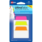 Avery Multiuse Ultra Tabs Neon Repositionable Two-Side Writable Tabs, 24 pk.