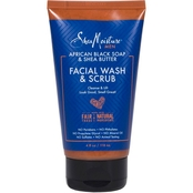Shea Moisture African Black Soap And Shea Butter Facial Wash And Scrub