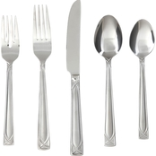 Cambridge Silversmiths Crossroad Sand 45 Pc. Flatware Set