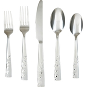 Cambridge Silversmiths Blossom Sand 20 Pc. Flatware Set