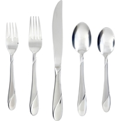 Cambridge Silversmiths Swirl Sand 20 Pc. Flatware Set