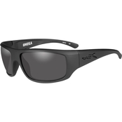 Wiley X WX Omega Black Ops Triloid Nylon Rectangle Sunglasses ACOME