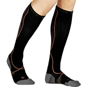 TOMMIE COPPER MENS ATHLETIC OVER THE CALF SOCKS BLK 6-8.5
