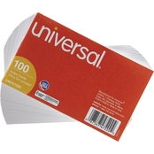 Universal 3 in. x 5 in. Unruled Index Cards 100 pk.