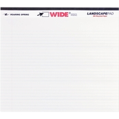 Roaring Spring WIDE Landscape Format Writing Pad, College Ruled, White, 40 Sheets