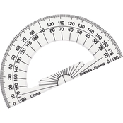 Charles Leonard Open Center Protractor with 4 in. Ruler Edge