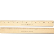 Westcott Standard/Metric Wood Ruler With Single Metal Edge