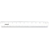 Universal 12 In. Clear Acrylic Plastic Ruler