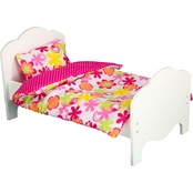 Teamson Kids Little Princess Bed with Bedding Accessories