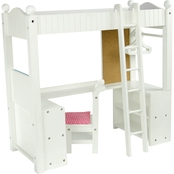 Teamson Kids Little Princess College Dorm Double Bunk Desk