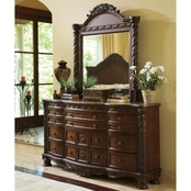 Ashley North Shore Dresser and Mirror