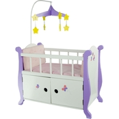Teamson Kids Little Princess Baby Nursery Bed with Cabinet for 18 in. Dolls