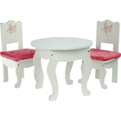 Teamson Kids Little Princess Table & 2 Chairs Set for 18 in. Dolls