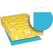 Neenah Paper Astrobrights Colored Card Stock, 65 lbs., 8.5 in. x 11 in., Lunar Blue