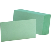 Oxford Unruled Index Cards, 3 in. x 5 in., Blue, 100 per Pk.