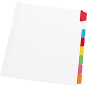 Universal One Multicolored Letter Size Write On/Erasable Indexes 8 Tab Set