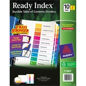 Avery Ready Index Customizable Table of Contents Dividers, Three 10-Tab Sets