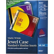Avery Inkjet CD/DVD Jewel Case Insert 20 Pk.