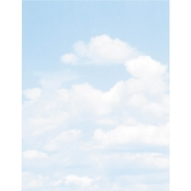 Geographics Clouds Design Paper, 8 1/2 in. x 11 in. Blue/White 100 Sheet Pack