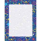 Geographics Star Confetti Design Paper, 8 1/2 in. x 11 in. Blue 100 Sheet Pack