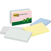Post-it Greener Notes Original Recycled Notes, 3 in. x 5 in. 100 Sheet Pads 5 pk.