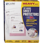 C-Line Non-Glare Sheet Protectors, 11 in. x 8 1/2 in. Heavyweight 50 pk.