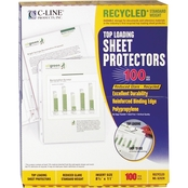 C-Line Recycled Polypropylene Sheet Protectors, 11 in. x 8 1/2 in. 100 pk.