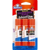 Elmer's Disappearing Purple School Glue Stick 3 pk.