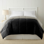Simply Perfect Down Alternate Reversible Comforter, Black
