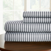 Simply Perfect Microfiber Pinstripe Sheet Set