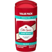 Old Spice High Endurance Invisible Solid Pure Sport Scent AP & Deodorant Twinpack