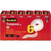 Scotch .75 X 1000 In. Transparent Tape 6 Pk.